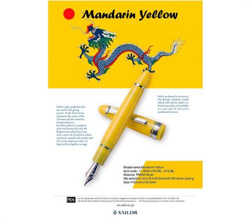 Sailor KOP Mandarin Yellow Limited Edition